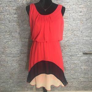 Jr. Sweet Storm Sleeveless Scoop Neck Dress